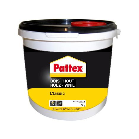 Colle à bois Classic PATTEX - seau de 5 kg - 1419249