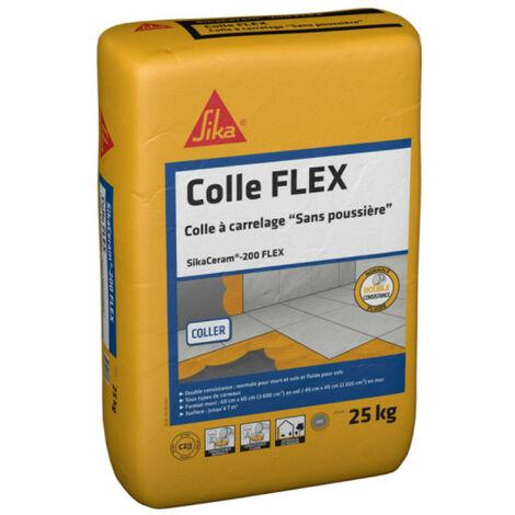 Colle à carrelage tous carreaux intérieur et extérieur (C2-ET) - SIKA SikaCeram Xtra - Blanc - 25kg