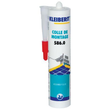 Colle acrylique pour plinthes et baguettes, sans solvant KLEIBERIT 586.0 - cartouche 0,450kg - 586.0.8106