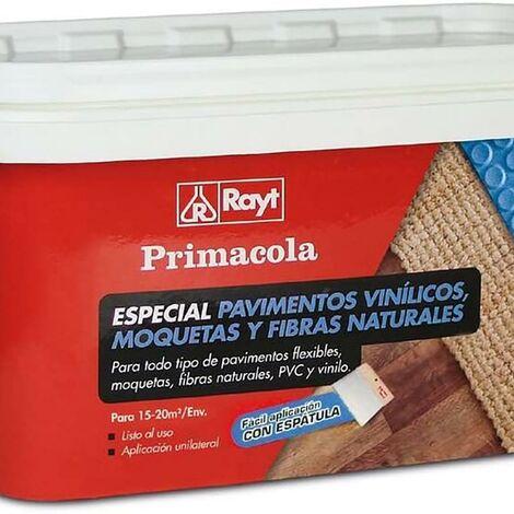 Colle acrylique sols pvc, tapis 5 Kg avec spatule Rayt