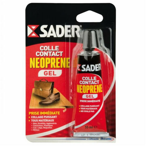 Colle contact néoprène GEL SADER - plusieurs modèles disponibles