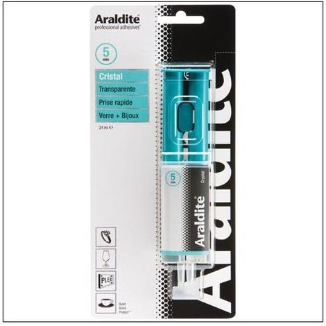 Colle 'cristal' 24ml en seringue ARALDITE - plusieurs modèles disponibles