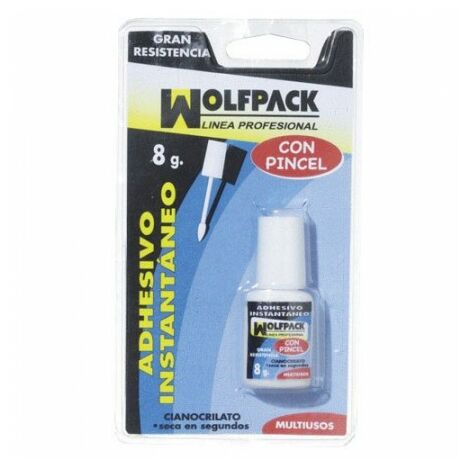 Colle cyano wolfpack - 8 g, avec pinceau