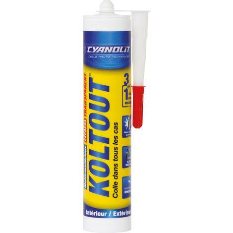 Colle Cyanolit Koltout Cyanolite - Transparent - Cartouche 290 ml