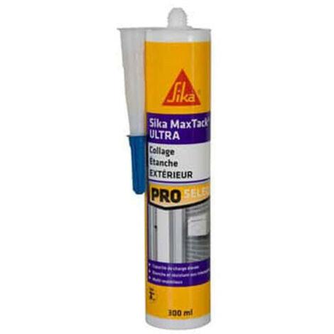 Colle de fixation à maintien immédiat multi-supports - SIKA Maxtack Ultra - Blanc - 290ml - Blanc
