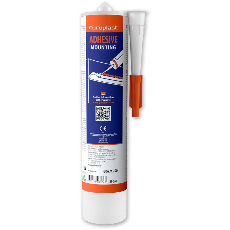 Colle d'installation pour moulures Profhome G06M290 colle acrylique forte à base d'eau pour pose à l' intérieur blanc 290 ml
