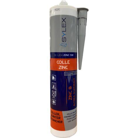 Colle fixation Zinc SW 290ml | Couleur: Gris acier RAL 7004