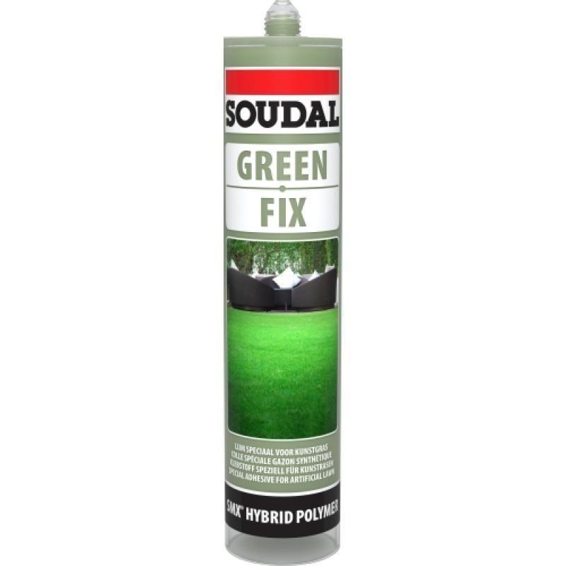 Colle gazon synthétique polymère GREEN FIX, coloris vert, carton de 6 cartouches de 290ml