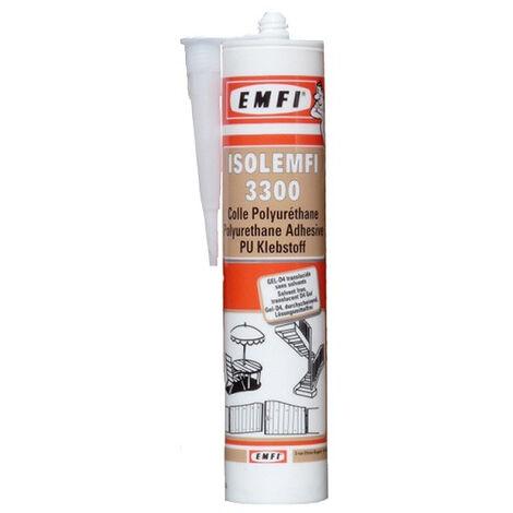 Colle gel EMFI Isolemfi 3300 - Cartouche de 300 ml - Lot de 25 - 50040AE064