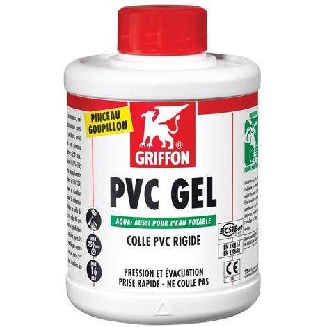 Colle gel pour canalisations PVC, compatible eau potable, contenance 1 kg