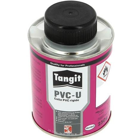 Colle gel PVC rigide TANGIT eau non potable+pinceau Pot 250g