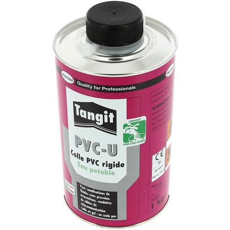 Colle gel PVC rigide TANGIT eau potable + pinceau Pôt 1kg