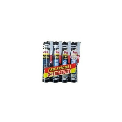 Colle mastic acryl blanc 380G lot de 3 + 1 gratuit