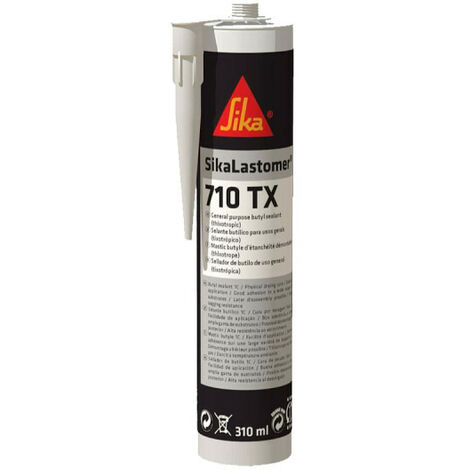 Colle mastic butyle - SIKALastomer 710TX- Blanc - 310 ml - Blanc