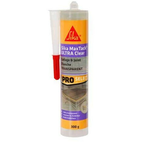 Colle-mastic multi-usages - SIKA Maxtack Ultra Clear - Transparent - 290ml