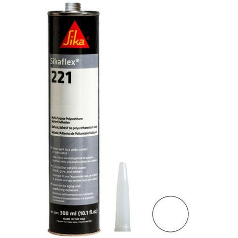 Colle mastic multi-usages SIKA Sikaflex 221 - Blanc - 400ml