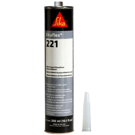 Colle mastic multi-usages SIKA Sikaflex 221 - Gris acier - 300ml