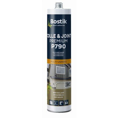 Colle mastic polyuréthane multi-usages P790 (coloris: blanc, gris, noir, beige ou brun) Cartouche 290ml BOSTIK - plusieurs modèles disponibles