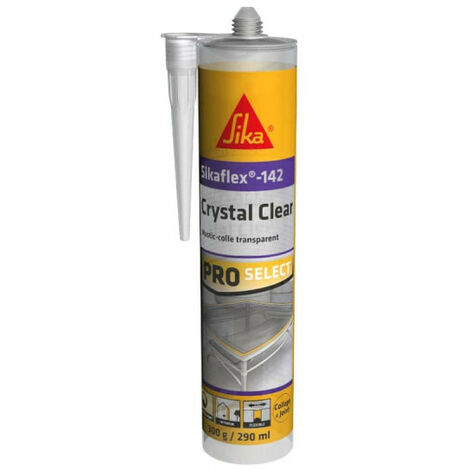 Colle mastic SIKA Sikaflex-142 Crystal clear - Transparent - 290ml - Blanc
