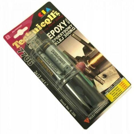 Colle métal 300kg epoxy pour métal 2x12ml