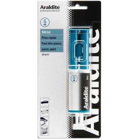 Colle 'métal' seringue 24ml ARALDITE - plusieurs modèles disponibles