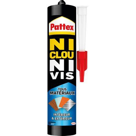 Colle Ni Clous Ni Vis Tous matériaux Pattex - 450 g - Blanc