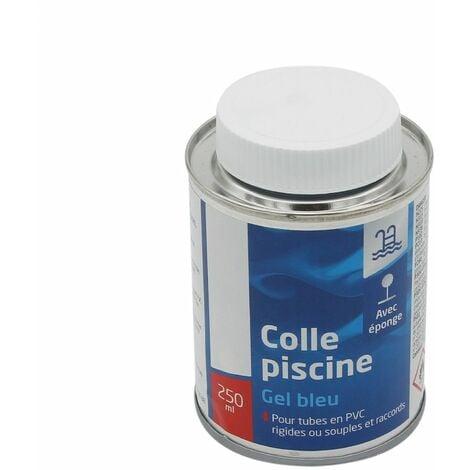 Colle piscine avec éponge pour tube et raccord PVC - Gel bleu - 250 ml - Linxor
