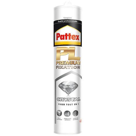 Colle PL Premium Fixation Crystal transparent de Pattex - plusieurs modèles disponibles
