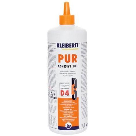 Colle polyuréthane en biberon de 1 kg