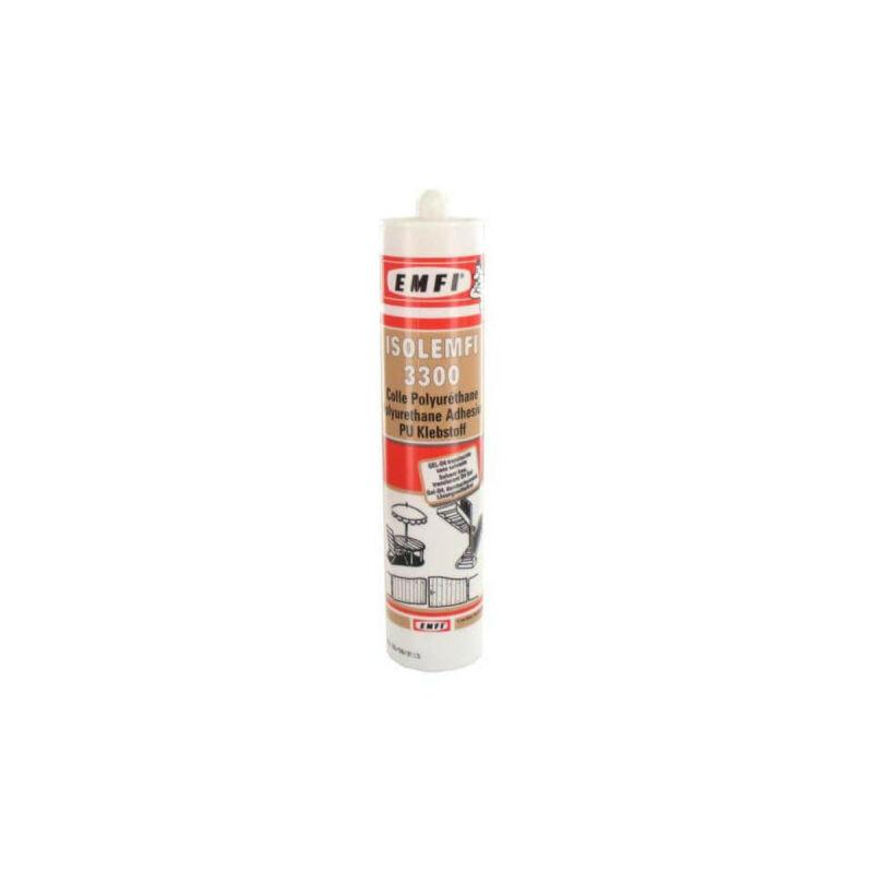 Colle polyuréthanne ISOL 3300 310ml X 5 - Blanc - Emfi