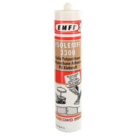 Colle polyuréthanne ISOLEMFI 3300 310ml X 5 - Blanc