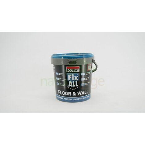 Colle pour liège mural FIX ALL Floor & Wall SOUDAL Seau de 4kg | seau(x) de 0 - Seau de 4kg