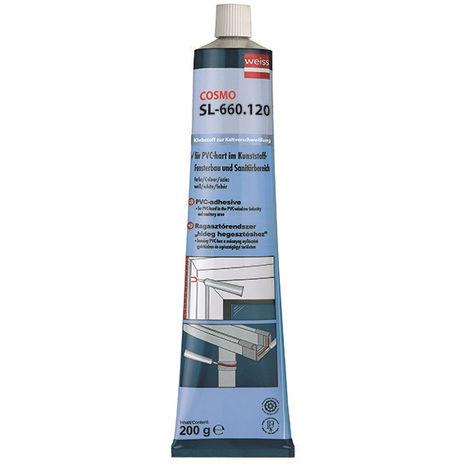 Colle PVC Blanche WEISS Tube Cosmo Haute Viscosité - SL-660.120