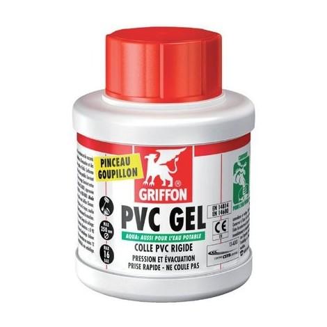 Colle PVC eau potable gel - en pot - A pinceau