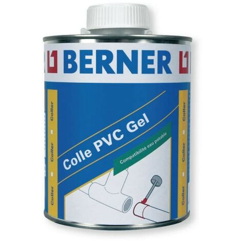 Colle Pvc Gel contact Eau Potable Pot 1 L Cristal Clair CRISTAL CLAIR Berner - CRISTAL CLAIR