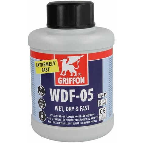 Colle PVC Griffon WDF-05 boîte 500 ml avec pinceau