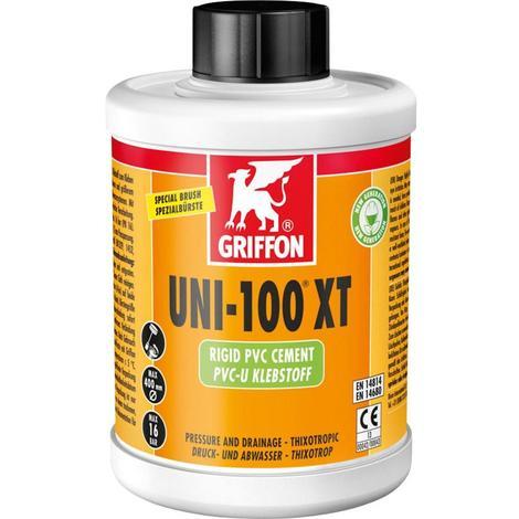 Colle PVC pression/evac. uni 100 XT - Griffon - Pot 1L avec pinceau