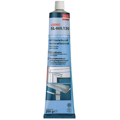 Colle PVC Transparente WEISS Tube Cosmo Haute Viscosité - SL-660.130