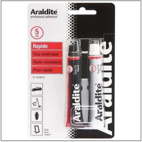 Colle 'rapide' 2x15ml en tube ARALDITE - plusieurs modèles disponibles