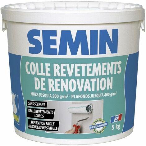 Colle revêtements de rénovation lisse en pâte Semin - prête à l'emploi - seau de 5 kg