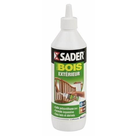 Colle SADER polyuréthane liquide pour bois extérieur BOSTIK - Biberon de 500 gr - 30610777