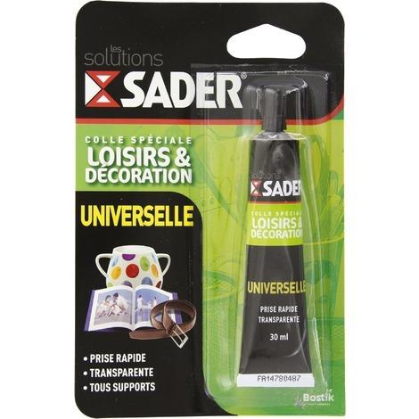 Colle spéciale loisirs et décoration universelle 30 ml Sader