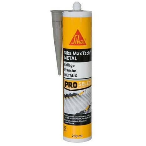 Colle spéciale métaux SIKA Maxtack Métal - Gris - 290ml - Gris