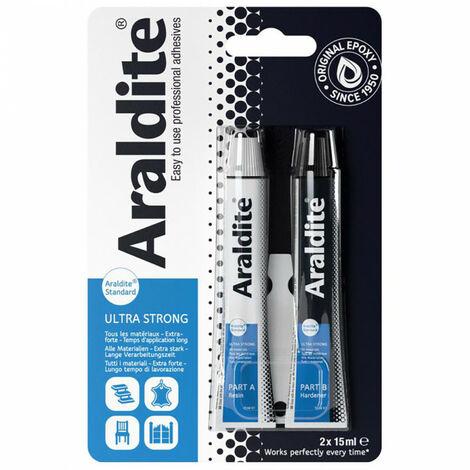 Colle 'standard' 2x15ml en tube ARALDITE - plusieurs modèles disponibles