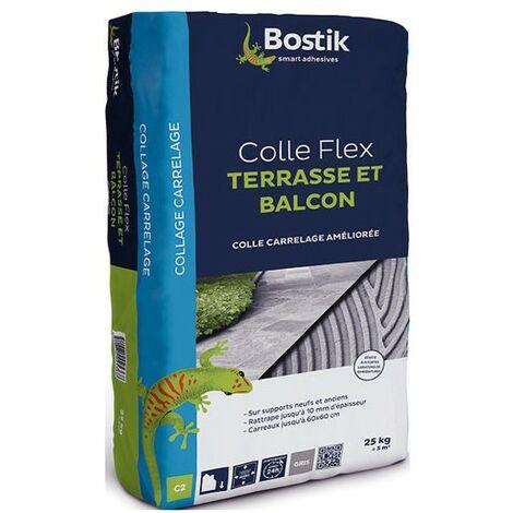 COLLE TERRASSES/BALCONS GRIS 25KG BOST