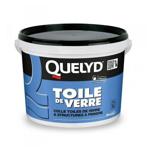 Colle toile de verre ou texture à peindre QUELYD prête à l'emploi
