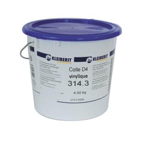 Colle vinylique D4 monocomposante KLEIBERIT 314.3 - seau 4,5kg - 314.3.0567