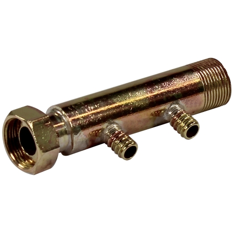 """Collecteur 3/4"""" (20/27) Mâle + écrou tournant - 2 départs pour tube PER Ø12 - entraxe 40mm"""
