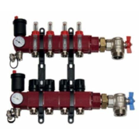 Collecteur Cosypack Modulaire - 2 circuits - pour plancher chauffant