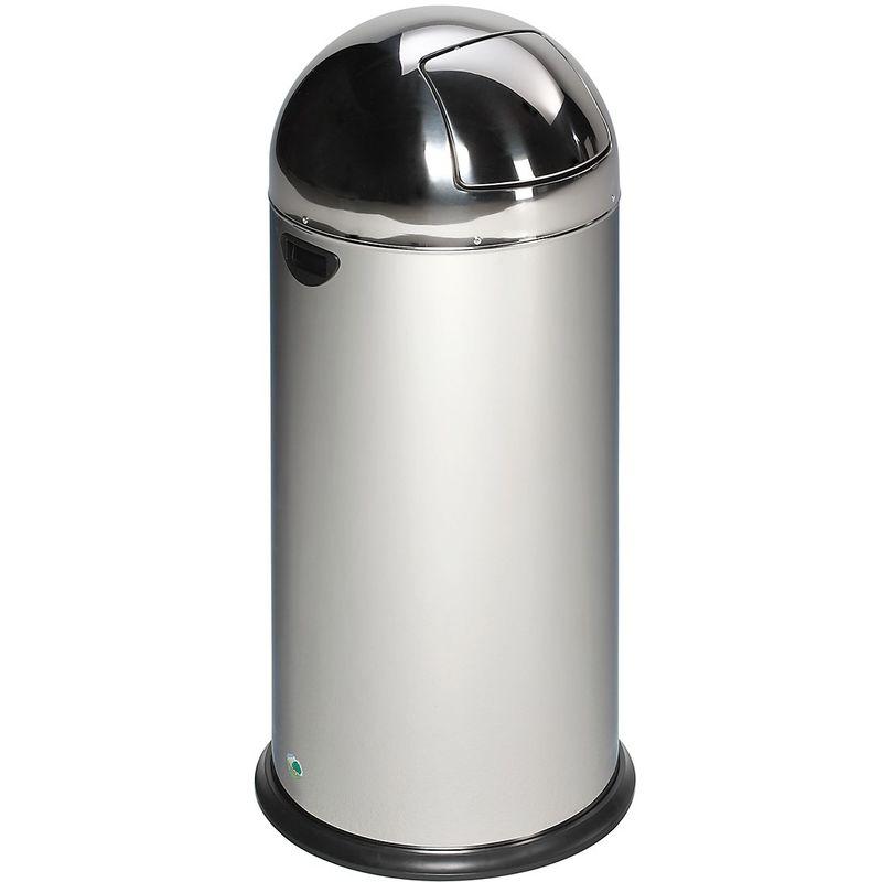 VAR - Collecteur de déchets à trappe - inox - capacité 52 l - Col. du couvercle: inox|Col. trappe: inox
